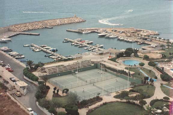 Holiday Beach Nahr El Kalb Lebanon Tennis Courts And Marina